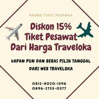 Tiket Promo pesawat diskon 10%-20% dari harga traveloka