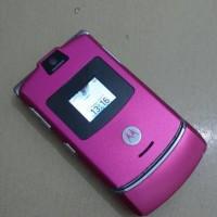 HP Motorola Razr a V3 Pink Full Normal Batangan