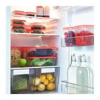 [ 1set isi17pcs ] IKEA PRUTA Tempat Kontainer Makanan isi 17pcs ORANGE