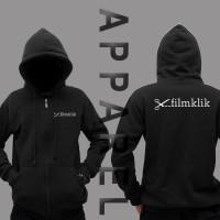 Hoodie Zipper FILM EDITOR KLIK Hitam - 5758 APPAREL
