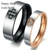 cincin couple  kawin/nikah murah/Titanium asli anti pudar/tdk luntur