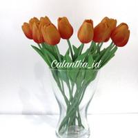 artificial flowers tulip oranye