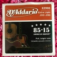 Jual senar gitar d'addario 010 akustik ez900 fullset 1 sd 6 Murah