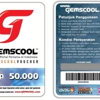 Voucher Gemscool 10.000 / 1.000 G-Cash