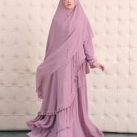 H [Syari Serena D Pink SW] gamis wanita jersey dusty pink