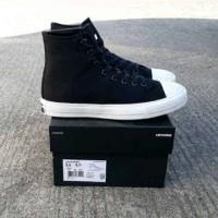 sepatu vans hitam putih high import premium sz 36-40