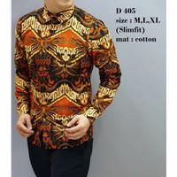 KEREN Kemeja Pria / Baju Batik Pria lengan Panjang / Modern Model Sli
