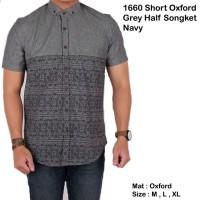 Jual kemeja batik tribal lengan pendek pria / baju cowok motif batik pendek Murah