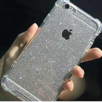 Anti Crack + Sticker Glitter Skin Case Iphone 5 / 5s