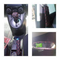 Jual PROMO car set cover (gear knob cover,hand brake cover,cover spion teng Murah