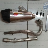 Knalpot CLD Racing KSR 110 type C7 Silencer Oval Doff