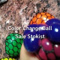 Squishy Anggur bola ninja anti stress ball berubah warna