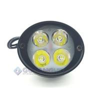 Jual Baru New Lampu Tembak Sorot LED Spion Motor Cree 4 Mata 12W 12V-24V Sp Murah