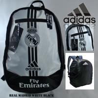 harga Tas Ransel Bola Real Madrid Hitam Putih + Pelindung Hujan Tokopedia.com