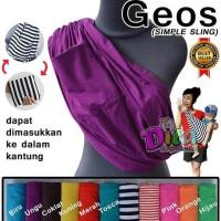 Gendongan Bayi Model Geos Bahan Kaos - Ungu Polos