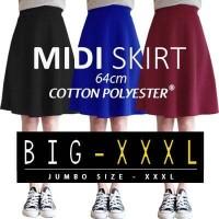 Jual (BIGSIZE) Midi Flare Skirt Murah