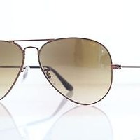 kacamata -Original Ray Ban RB3025 014/51 Aviator Brown Frames Gradient