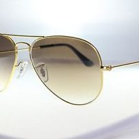 kacamata -Original Ray Ban RB3025 001/51 Aviator Gold Frames Gradient