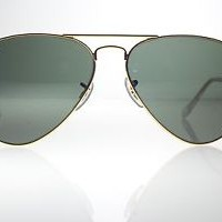 kacamata -Original Ray Ban RB3025 0015 55 Small Aviator Gold Frames G-