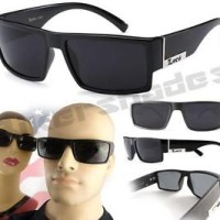 kacamata -LOCS Original Gangster Shades Sunglasses DARK SMOKE Glasses