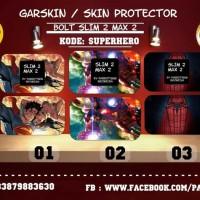 Jual ORY- Garskin bolt slim 2 & Max 2 superhero.