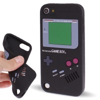 SS4209 - GAMEBOY SILICONE CASE IPOD TOUCH 5 / 6 BLACK