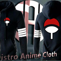 PROMO jacket uciha sasuke hand leg strip black (anime naruto) LARIS