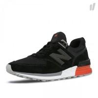 Sepatu New Balance MS 574 AB black red original