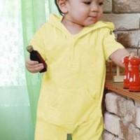 Romper Bayi Hoodie Yellow