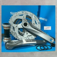 Shimano Alivio FC-M4060 Crank Set 3x9-speed 48-36-26T holowtech 2