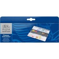 Jual WINSOR&NEWTON COTMAN WATER COLOURS BLUE BOX - 12 HALF PANS Murah