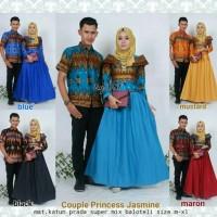 Baju batik couple modern gamis muslim modern