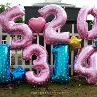 Jual Balon foil Huruf & Angka large 100cm Murah