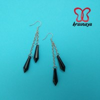 ANTING HANDMADE KRASNAYA AE006 BLACK / TIRA / EARRINGS