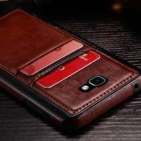 Samsung galaxy J5 prime leather wallet back cover case card bumper on5
