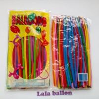 Balon panjang / cacing / twist / magic / bentuk warna campur