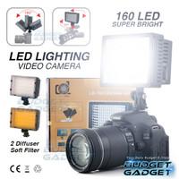 Lightning Kamera 160 LED Lampu Video + FILTER Light DSLR MIRORLESS