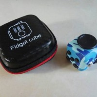 Jual Fidget Cube Motif/Corak (Army Blue Edition) Murah