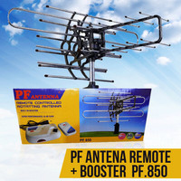 Antenna Antena Tv outdoor dengan remote dan booster + kabel PF 850
