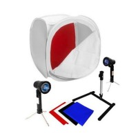 Lighttend with lighting kit 80 x 80cm (Mini Studio Kit Murah