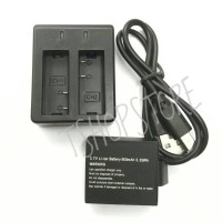 Charger + Baterai Action Cam (B-Pro 5AE/SJCam/DLL)