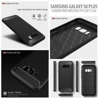 Carbon Fiber Brushed Soft Case - Samsung Galaxy S8 Plus