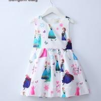 Jual Baju Anak Dress Frozen Samgami Printed White Murah