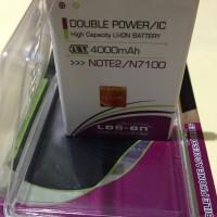 Baterai Batre Battery Samsung Galaxy Note 2 Note Ii Note2 Noteiii N7100 Dobel Ic Double Power 4000mah Log On Log-on