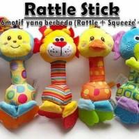 Harga hot promo happy monkey rattle stick teether mainan | antitipu.com