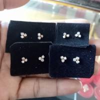 Anting Berlian Medan Model Mata 3 kecil