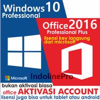 Jual Windows 10 Professional + Office Pro Plus 2016 Murah
