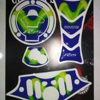 Stiker pad yamaha R15 NEW V3 lengkap tankpad fuelpad dll movistar biru
