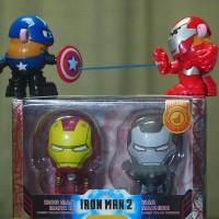 Jual Hot Toys Cosbaby Iron Man & War Machine Comic Version Disney Shanghai Murah
