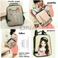 tas ransel square women bag backpack korean style harga grosir